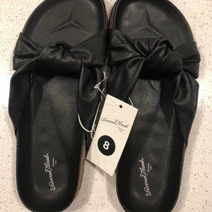 NEW Black Junie Knotted Sandals Universal Thread